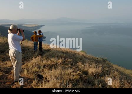 Lake Chamo, Nechisar National Park, Ethiopia, Africa - Stock Photo