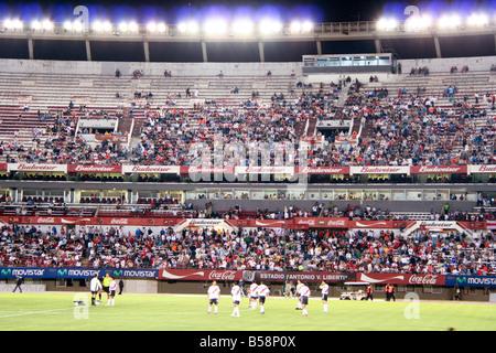 Spectators at the Estadio Monumental Antonio Vespucio Liberti football stadium Buenos Aires Argentina South America