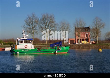 River view St Valery sur Somme Picardie France Europe - Stock Photo