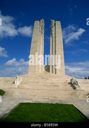 First World War Vimy Canadian Memorial near Lens Nord Pas de Calais Nord Picardiy France Europe - Stock Photo