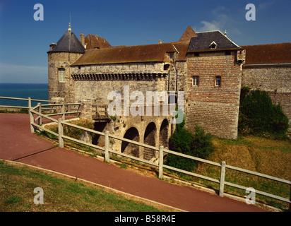 Chateau Dieppe Seine Maritime Haute Normandie France Europe - Stock Photo