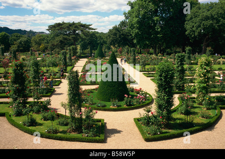 Bagatelle rose garden Bois de Boulogne Paris France Europe - Stock Photo