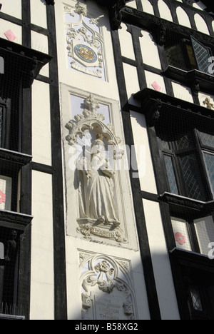 Close up of mock Tudor exterior of the Next department store building in Market Place Kingston, Surrey, England - Stock Photo