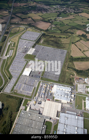 Aerial view north west of the Toyota Manufacturing UK Site country fields Burnaston Derbyshire DE1 England UK High - Stock Photo