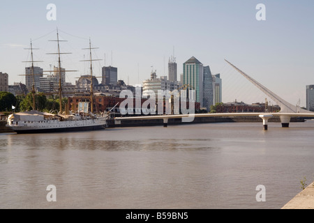 View towards city centre from Puerto Madero Buenos Aires Argentina South America - Stock Photo