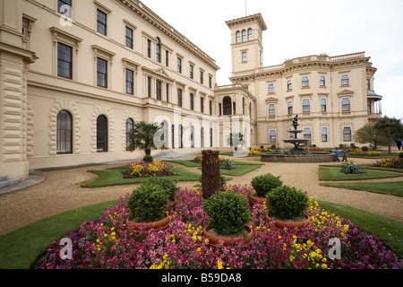 Terrace gardens of Osborne House former home of Queen Victoria East Cowes Isle of Wight England UK - Stock Photo