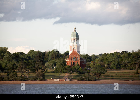 Chapel remaining from the 1856 Royal Victoria Military Hospital now Country Park Netley Southampton Water England - Stock Photo