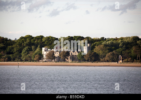 Netley Castle built 1542 six years after Henry V111 abolished monastery at Netley Abbey on Southampton Water England - Stock Photo