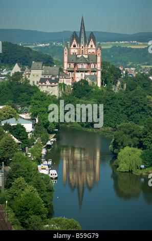 Limburg Cathedral Limburg Hesse Germany Europe - Stock Photo