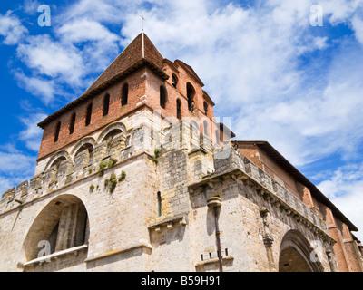 The Bell tower of the Abbaye Saint Pierre de Moissac in Moissac, Tarn et Garonne, France Europe - Stock Photo