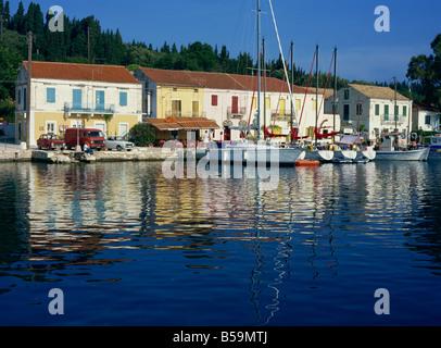 Fiskardo, Kefalonia, Ionian Islands, Greek Islands, Greece, Europe - Stock Photo