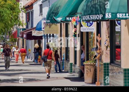 Shops at Main Street Ventura California USA - Stock Photo