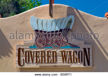 Covered Wagon gift shop at Old Town in San Diego California USA - Stock Photo