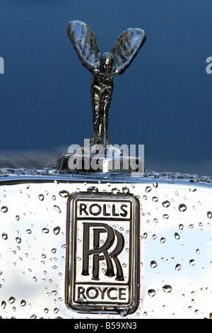 Rolls Royce Hood Emblem And Logo On Vintage Rolls At Barret Jackson