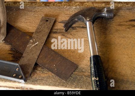 Carpenter's tools - Stock Photo