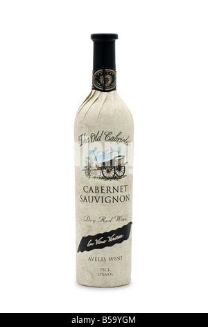 the old cabriolet dry red wine avelis cabernet sauvignon in vino veritas - Stock Photo