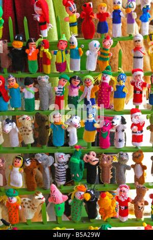 Puppets. Inca market. Lima. Peru. - Stock Photo