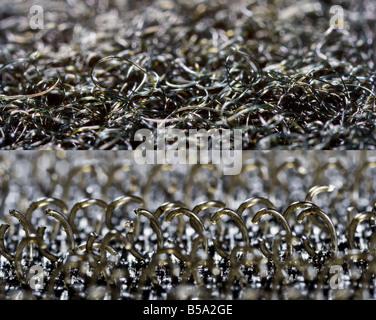 Extreme Close Up of Velcro Loops Hooks - Stock Photo