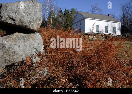 Seventh day Adventist Church during the autumn months in Washington New Hampshire USA - Stock Photo