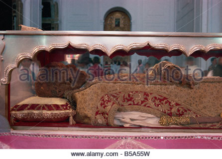 The remains of St. Francis Xavier, Se Cathedral, Old Goa, India - Stock Photo