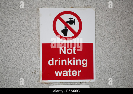 Not Drinking water warning sign - Stock Photo