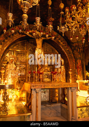 Chapel of Golgotha, The Church of the Holy Sepulchre, Jerusalem, Israel, Middle East - Stock Photo