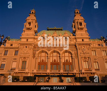 The east front of the casino at Monte Carlo Monaco R Tomlinson - Stock Photo