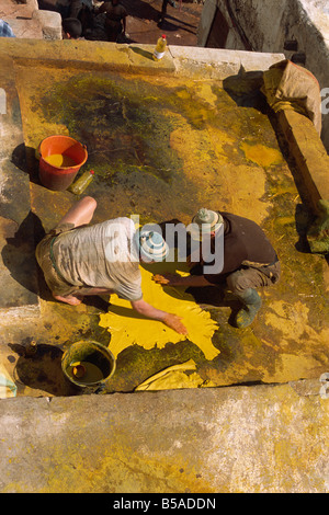 The Tannery, Fez, Morocco, North Africa, Africa - Stock Photo