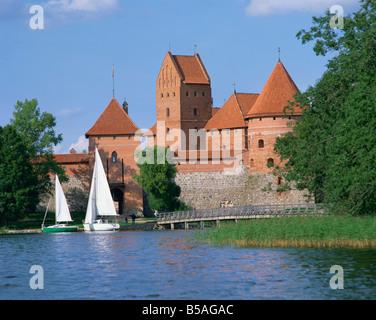 Trakai Castle in Lithuania G R Richardson - Stock Photo