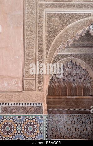 The Saadian tombs in the Kasbah district, Medina, Marrakesh, Morocco, North Africa - Stock Photo