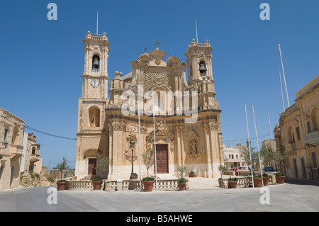 Church of the Visitation, Gharb, Gozo, Malta, Europe - Stock Photo