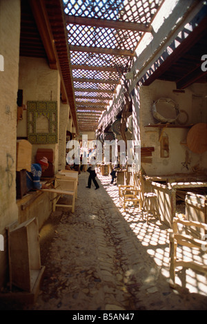 Souk in the old walled town or medina Fez Morocco North Africa Africa - Stock Photo