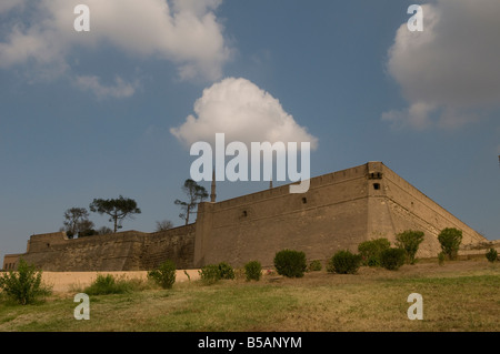 The external walls of Saladin or Salaḥ ad-Dīn Citadel a medieval Islamic fortification located on Mokattam hill - Stock Photo