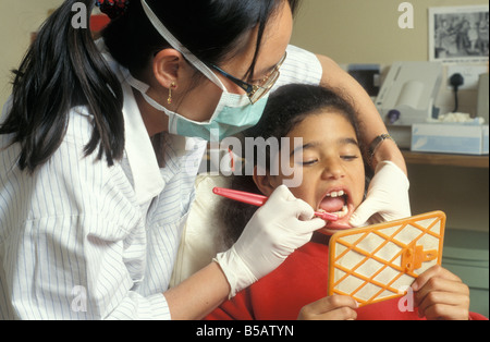 young girl having dental checkup - Stock Photo