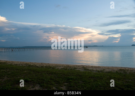 Cloud and Sea scape from the South China Sea - Stock Photo