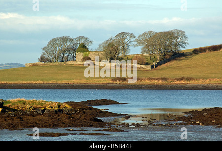 13th Century Church Castle Hill Ardkeen Strangford Lough Northern Ireland - Stock Photo