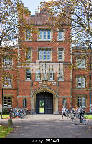 One of the arches  at Jesus College, Cambridge. - Stock Photo