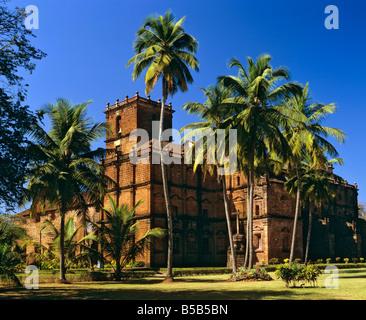 Basilica do Bom Jesus in Goa, final resting place, Francisco de Xavier's burial site, Panji, Goa, India - Stock Photo
