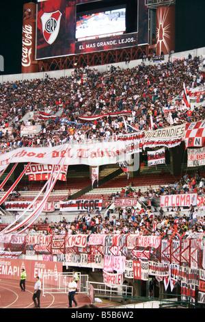 Spectators at the Estadio Monumental Antonio Vespucio Liberti football stadium, Buenos Aires, Argentina, South America