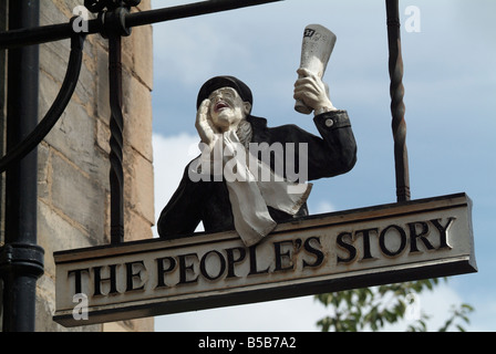 Sign for The People's Story Museum in Canongate, Edinburgh, Scotland, UK. - Stock Photo