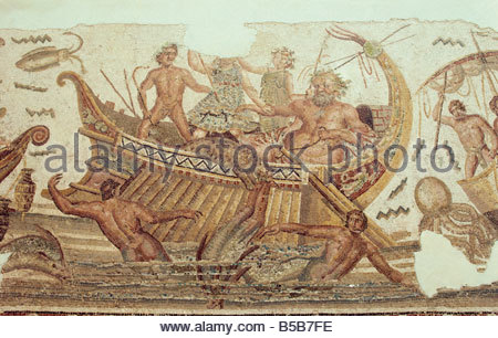 Triumph of Neptune, Bardo Museum, Tunis, Tunisia, North Africa, Africa - Stock Photo