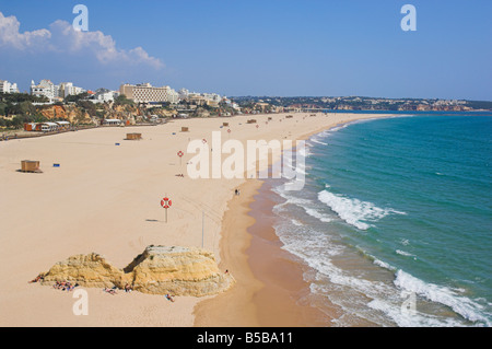 Praia da Rocha beach Portimao Algarve Portugal Europe - Stock Photo