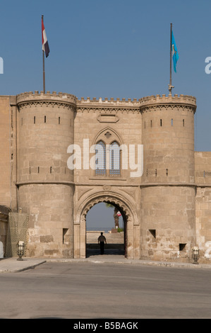 Gateway inside Saladin or Salaḥ ad-Dīn Citadel a medieval Islamic fortification located on Mokattam hill in Cairo, - Stock Photo
