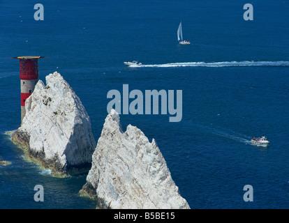 The Needles, Isle of Wight, England, Europe - Stock Photo