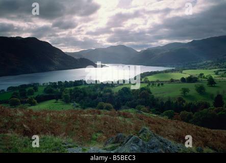 Ullswater, Lake District National Park, Cumbria, England, Europe - Stock Photo