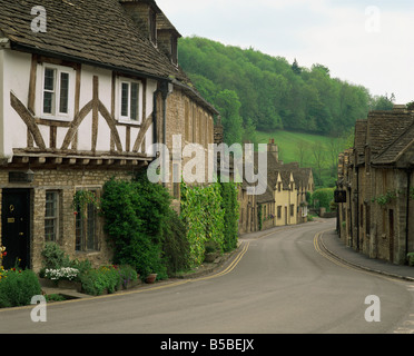 Castle Combe, Wiltshire, England, Europe - Stock Photo