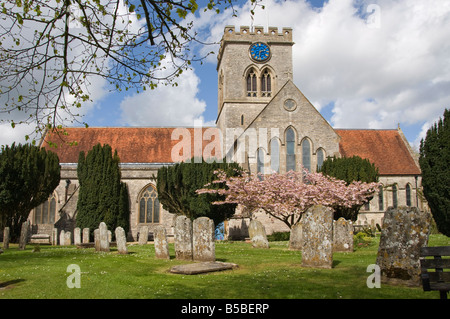 Ringwood Parish Church of St. Peter and St. Paul, Ringwood, Hampshire, England, Europe - Stock Photo