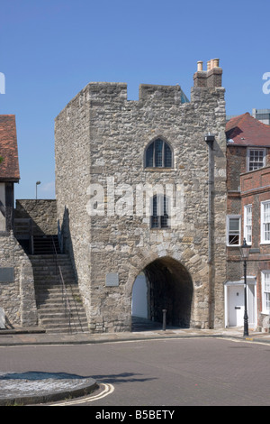 Westgate, Old Town Walls, Southampton, Hampshire, England. Europe - Stock Photo