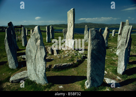 Callanish Standing Stones, Lewis, Outer Hebrides, Scotland, Europe - Stock Photo