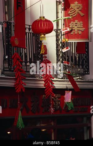 Chinese New Year, Chinatown, Soho, London, England, Europe - Stock Photo